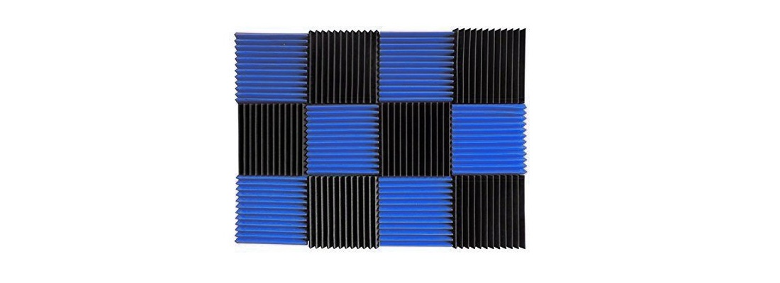Blue / Charcoal Acoustic Foam Tiles