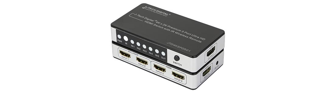 J-Tech Digital JTD4KSP0501 HDMI Switcher