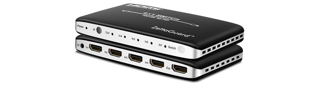 Zettaguard 4K x 2K 4 Port 4 x 1 HDMI Switch