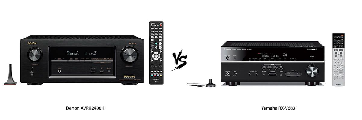 Denon AVRX2400H vs. Yamaha RX-V683 comparison