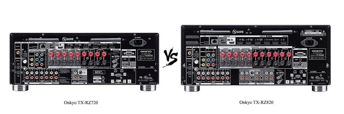 Onkyo TX-RZ820 vs TX-RZ720