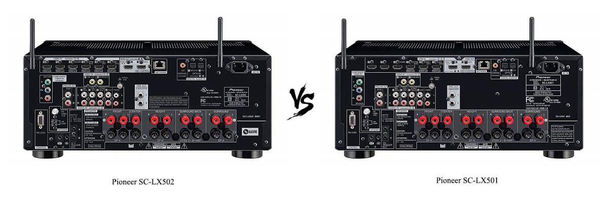 Pioneer SC-LX501 vs SC-LX502