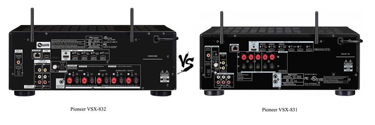Pioneer VSX-831 vs VSX-832