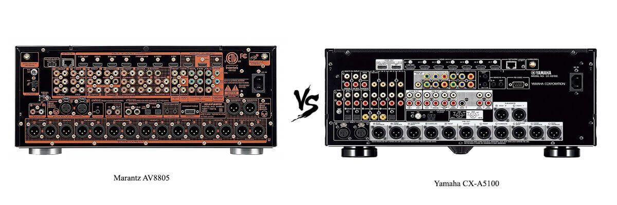 Yamaha CX-A5100 vs Marantz AV8805