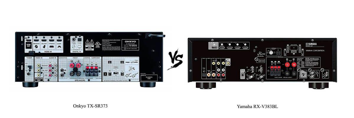 Yamaha RX-V383BL vs Onkyo TX-SR373 Review [2019] - HelpToChoose