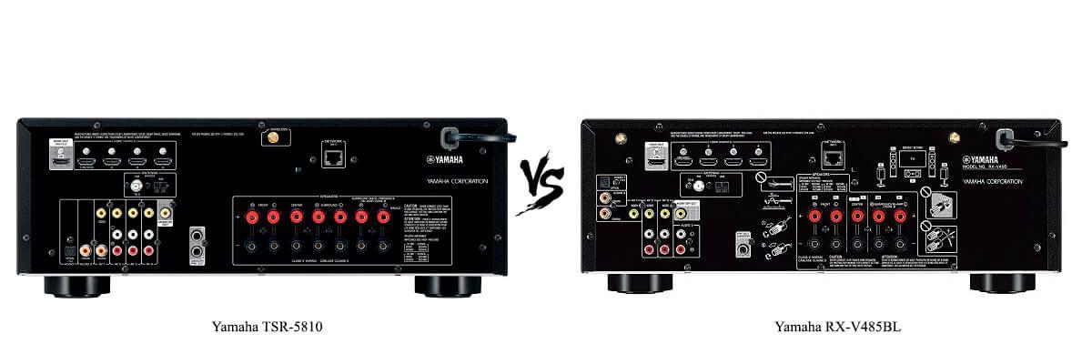 Yamaha RX-V485BL vs Yamaha TSR-5810