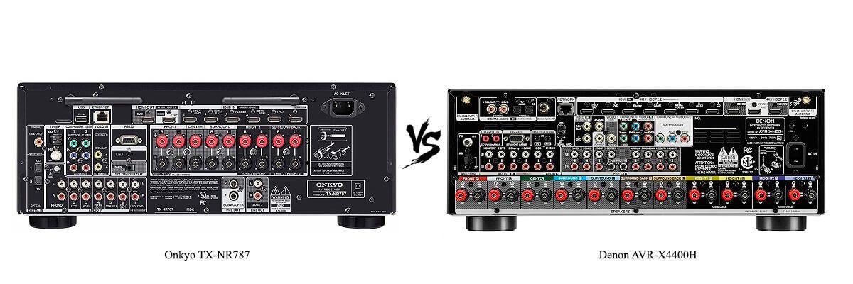 Denon AVR-X4400H vs Onkyo TX-NR787