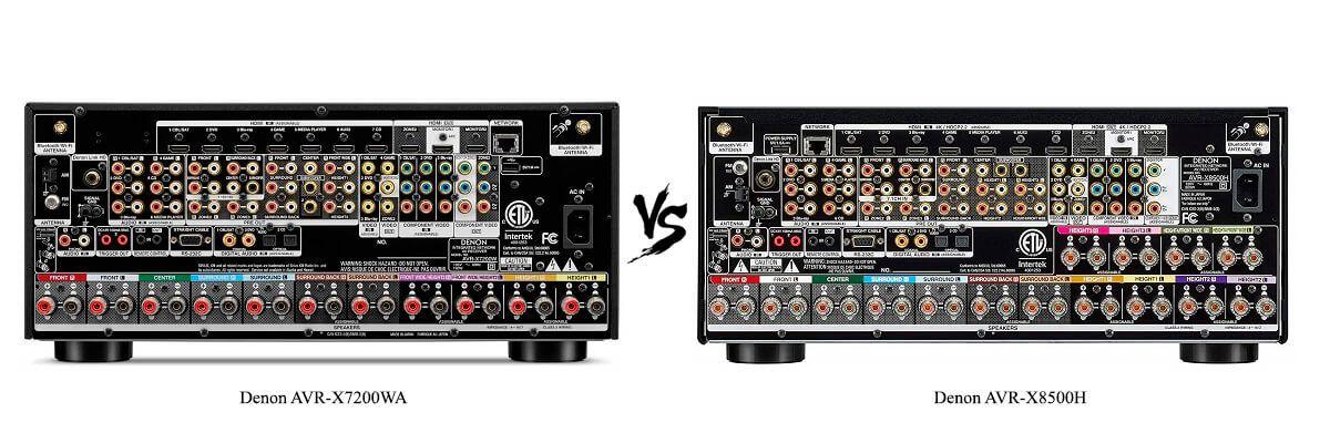 Denon AVR-X8500H vs AVR-X7200WA