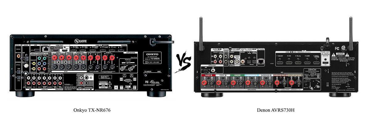 Denon AVRS730H vs Onkyo TX-NR676