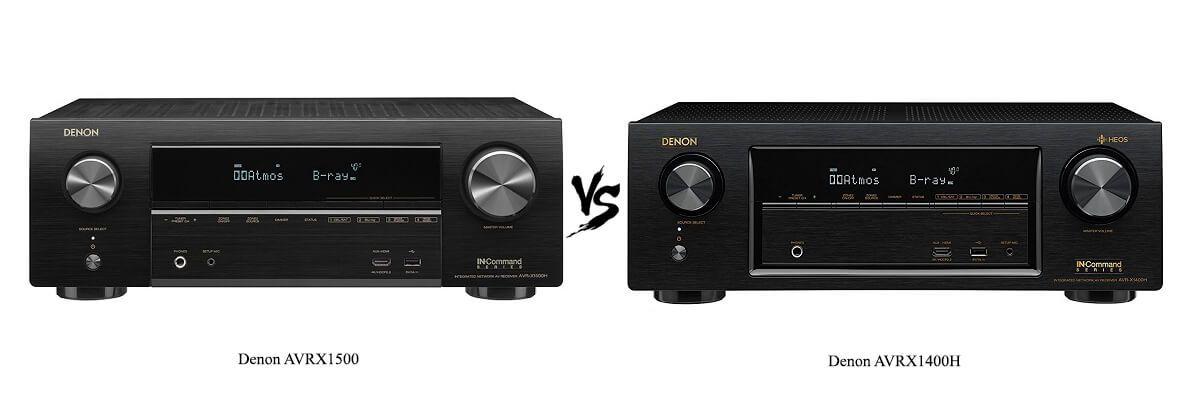 Denon AVRX1500 vs Denon AVRX1400H