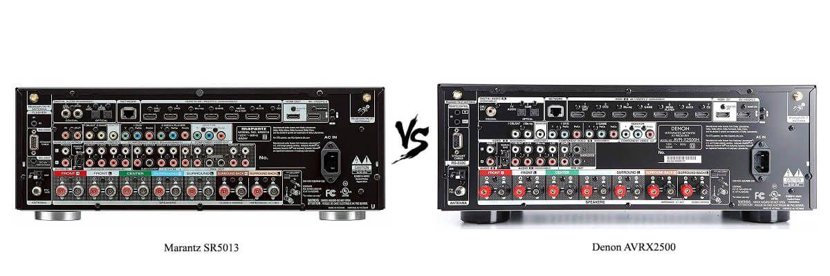 Denon AVRX2500 vs Marantz SR5013