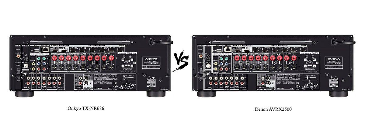 Denon AVRX2500 vs Onkyo TX-NR686