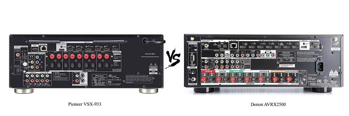 Denon AVRX2500 vs Pioneer VSX-933