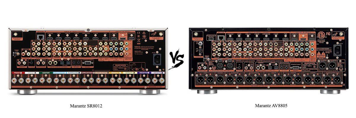 Marantz AV8805 vs SR8012