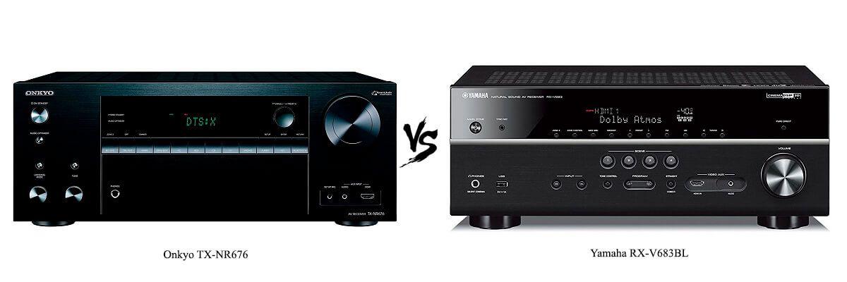 Onkyo TX-NR676 vs Yamaha RX-V683BL