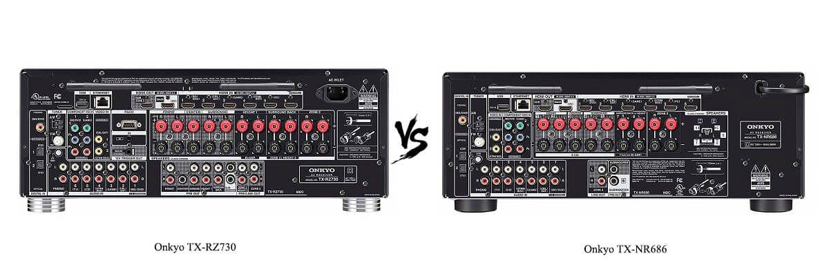 Onkyo TX-NR686 vs TX-RZ730