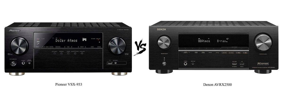 Pioneer VSX-933 vs Denon AVRX2500