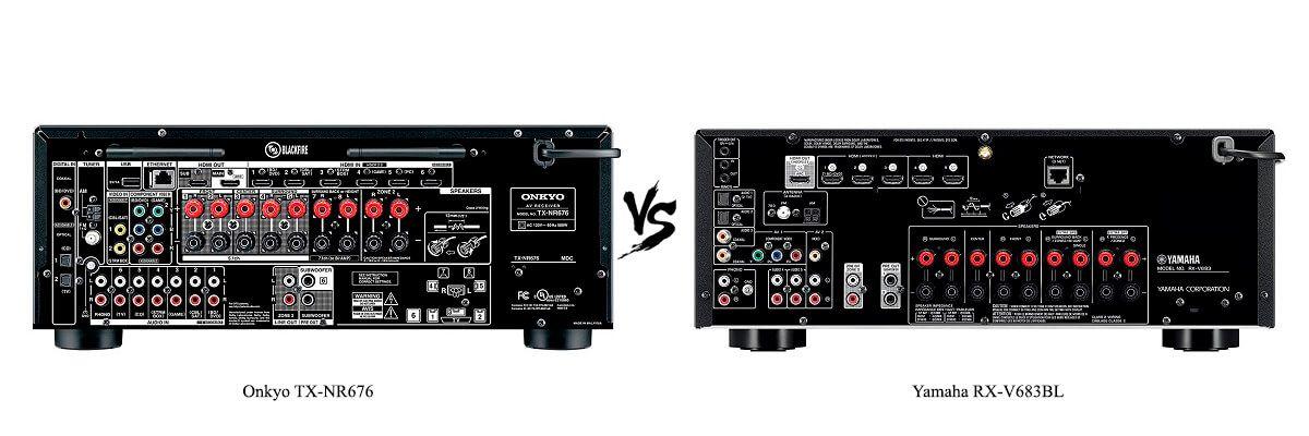 Yamaha RX-V683BL vs Onkyo TX-NR676
