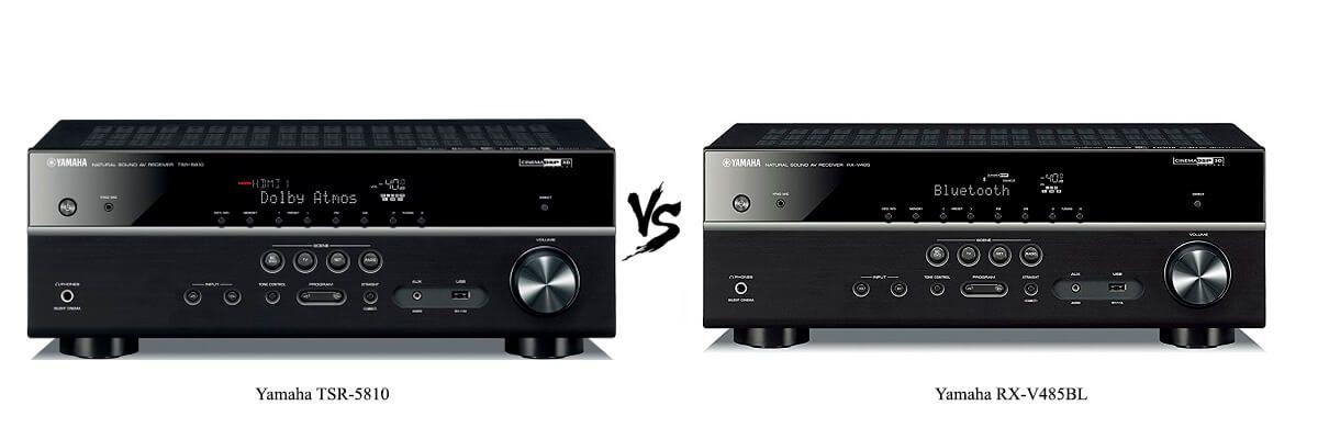 Yamaha TSR-5810 vs Yamaha RX-V485BL