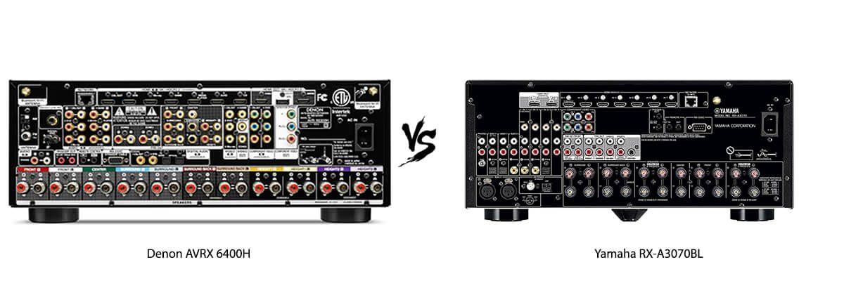 Denon AVR-X6400H vs Yamaha RX-A3070BL Review [2019