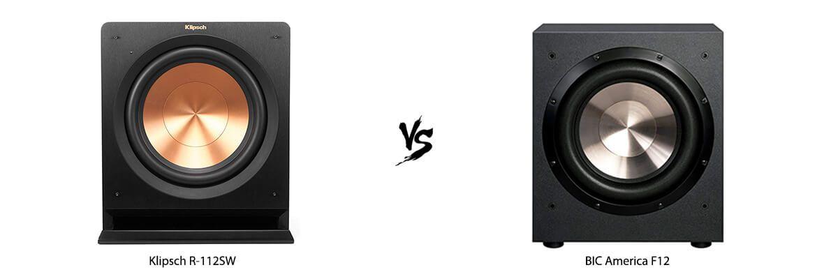 Klipsch R-112SW vs BIC America F12