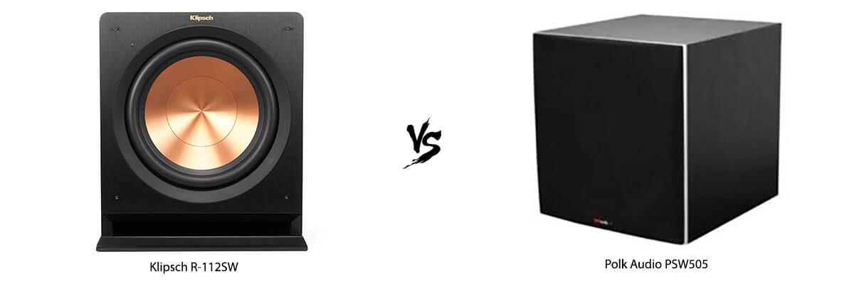 Klipsch R-112SW vs Polk Audio PSW505