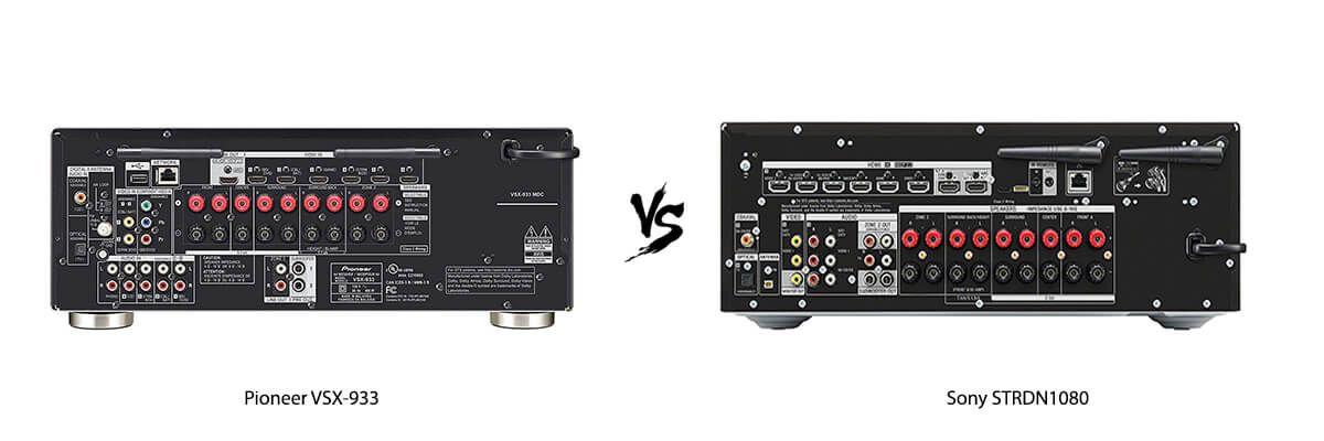 Pioneer VSX-933 vs Sony STRDN1080 back