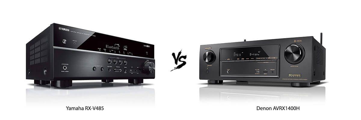Yamaha RX-V485 vs Denon AVRX1400H