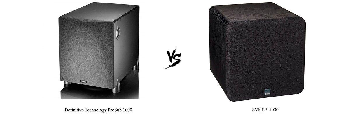 Definitive Technology ProSub 1000 vs SVS SB-1000