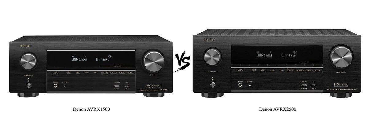 Denon AVRX1500 vs Denon AVRX2500