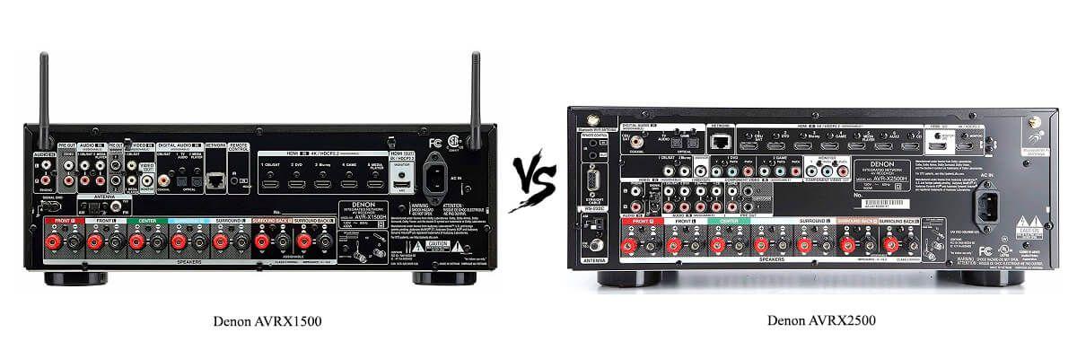 Denon AVRX2500 vs Denon AVRX1500