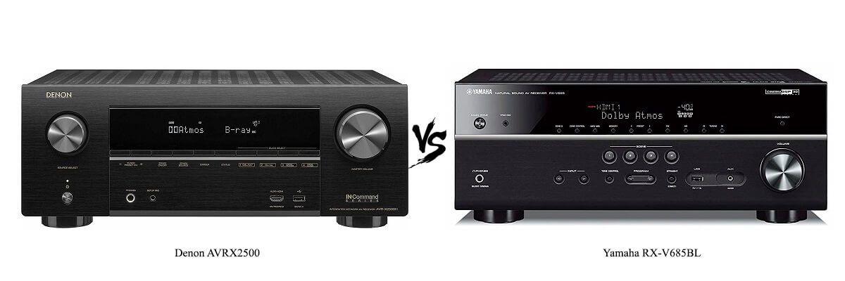 Denon AVRX2500 vs Yamaha RX-V685BL
