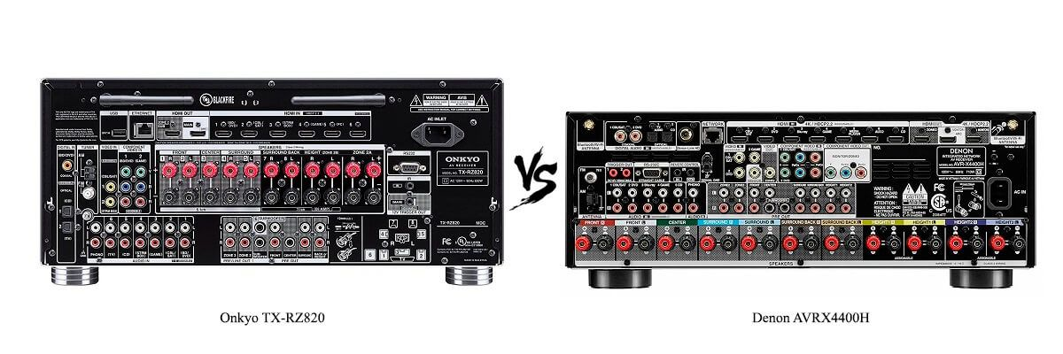 Denon AVRX4400H vs Onkyo TX-RZ820