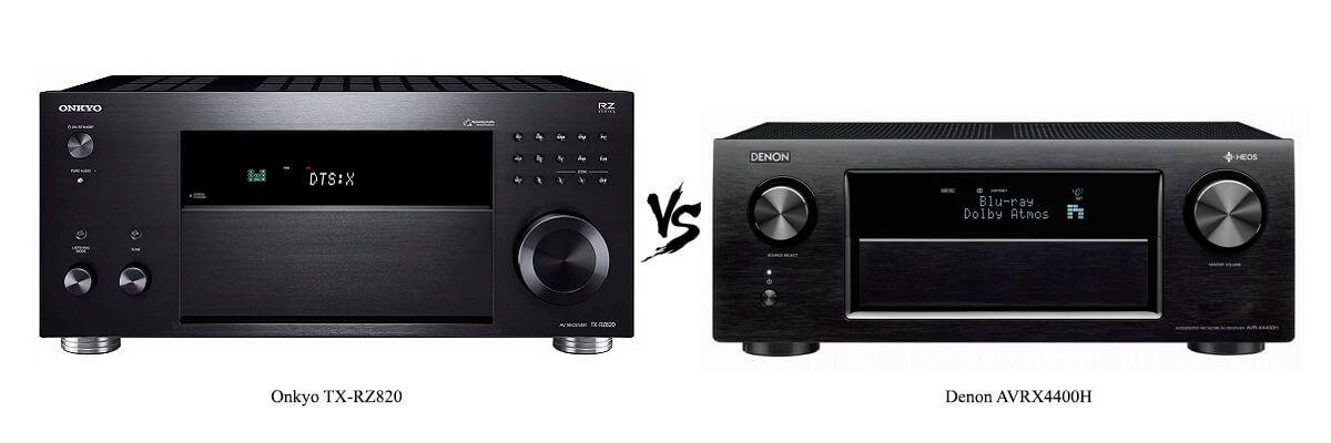 Onkyo TX-RZ820 vs Denon AVRX4400H