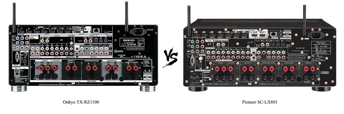 Pioneer SC-LX801 vs Onkyo TX-RZ1100