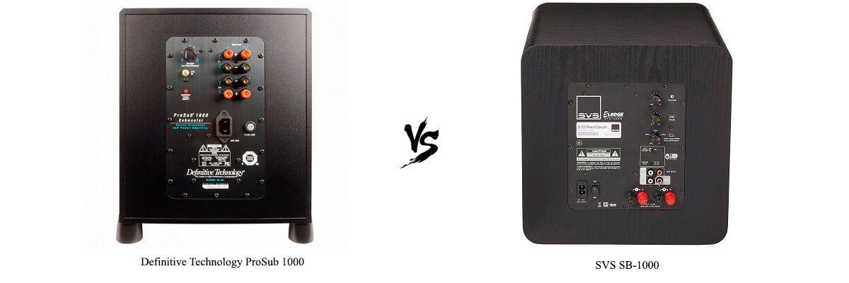 SVS SB-1000 vs Definitive Technology ProSub 1000