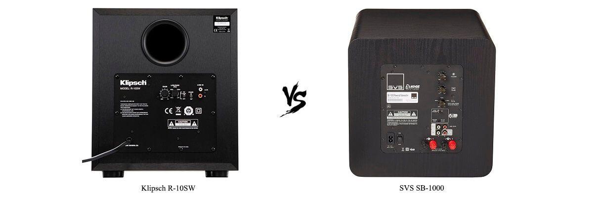 SVS SB-1000 vs Klipsch R-10SW