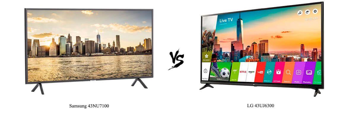 Samsung 43NU7100 vs LG 43UJ6300