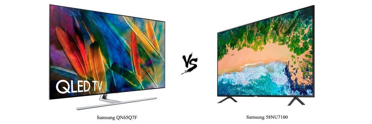 Samsung QN65Q7F vs Samsung 58NU7100