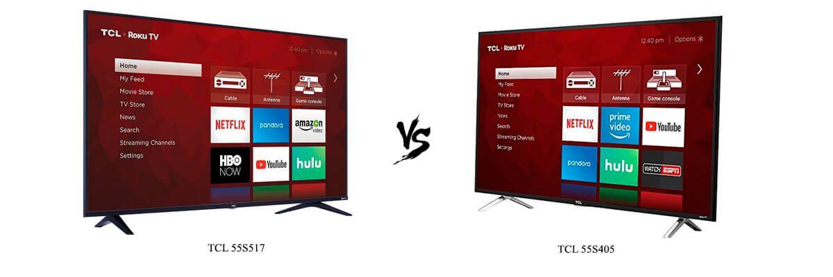 TCL 55S517 vs TCL 55S405