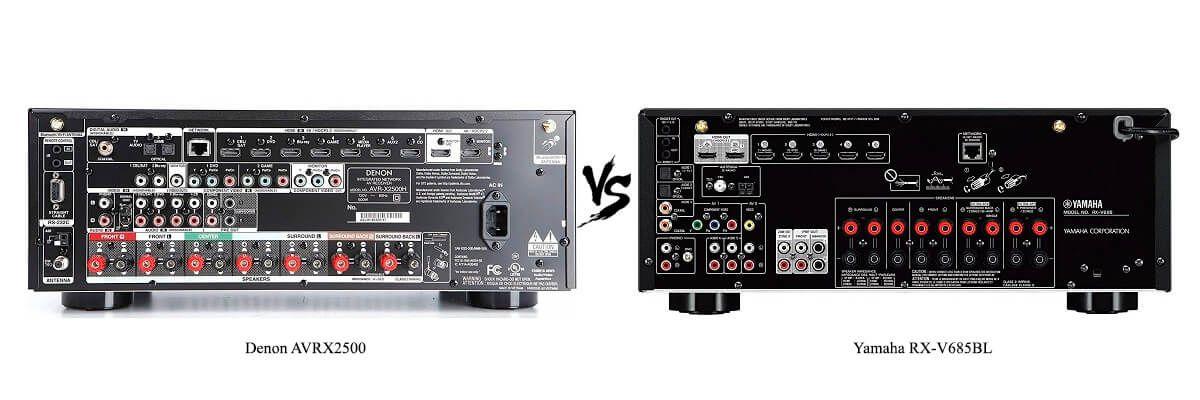 Yamaha RX-V685BL vs Denon AVRX2500