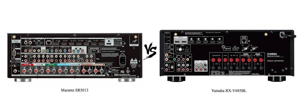 Yamaha RX-V685BL vs Marantz SR5013