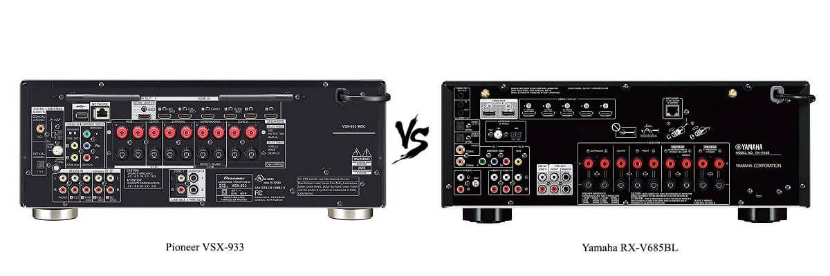 Yamaha RX-V685BL vs Pioneer VSX-933