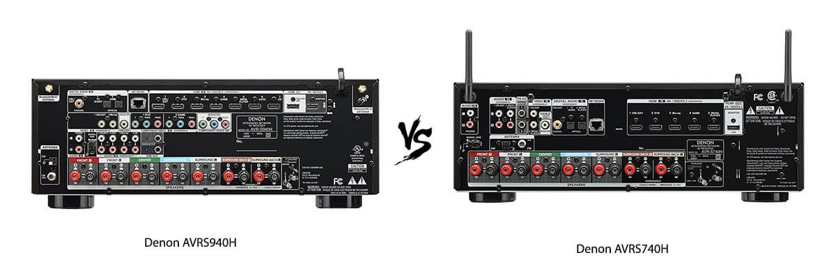 Denon AVRS940H vs Denon AVRS740H back
