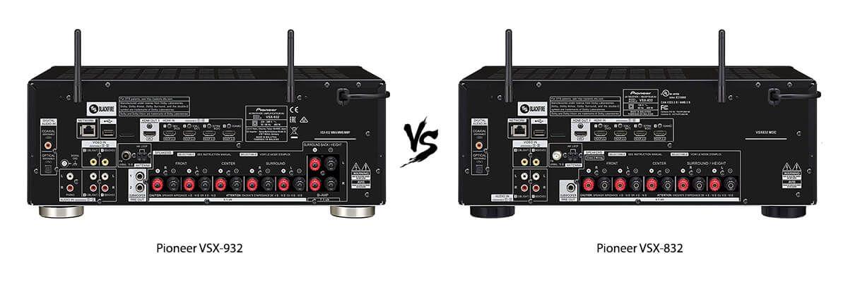 Pioneer VSX-932 vs Pioneer VSX-832 back