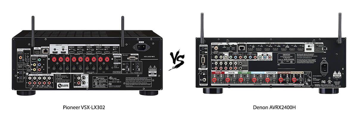 Pioneer VSX-LX302 vs Denon AVRX2400H back