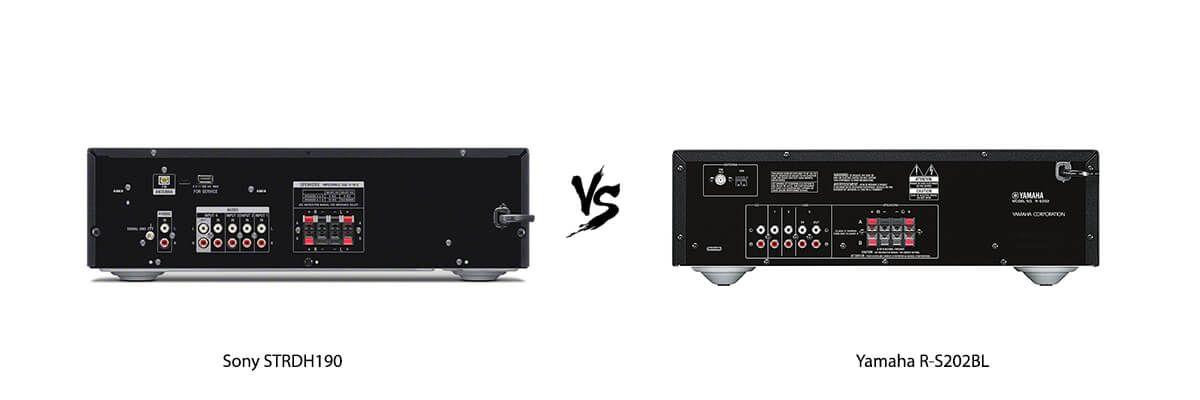 Sony STRDH190 vs Yamaha R-S202BL back