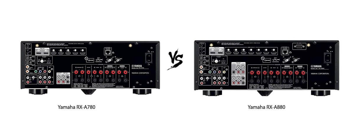 Yamaha RX-A780 vs Yamaha RX-A880 back