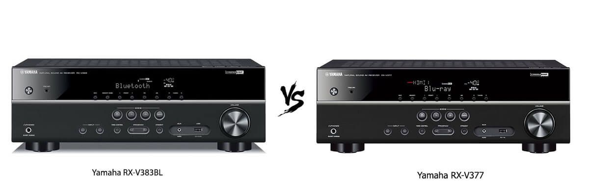 Yamaha RX-V383BL vs Yamaha RX-V377