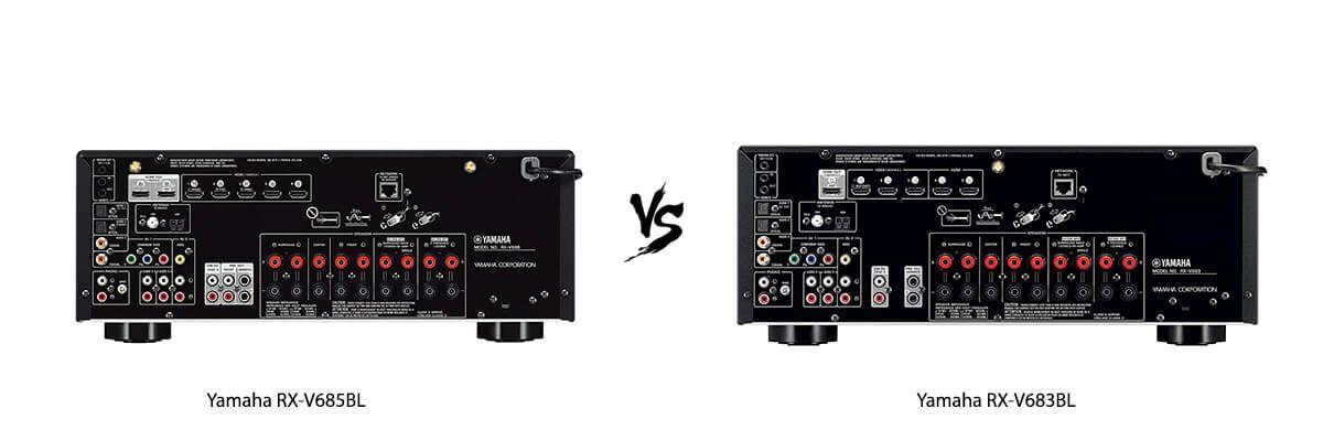 Yamaha RX-V685BL vs Yamaha RX-V683BL back